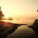 Őszi reggel Balatonalmádiban