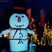 Karácsonyi hangulat és hóember