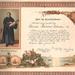 Díszes elismerő oklevél kitöltve 1901-ből