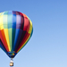 Hot air balloon on the blue sky Ultra HD