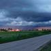 Peremfelhős naplemente Jászboldogházán