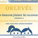 Gregor - Digitális Témahét Oklevél