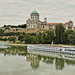 Basilica and Castle of Esztergom at the Danube river