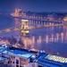 Budapest kék óra télen