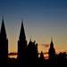 A Dóm és a Szerb templom sziluettje