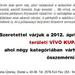 meghívó VÍVÓ KUPA 2012