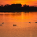 Naplemente a Tisza-tónál