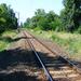 A megállóhely után,a nyílt vonal Balatonfenyves állomás felé néz