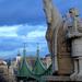 Szent István szobra a Gellérthegyi Szikla-kápolna előtt