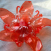 plastic bottle red flower