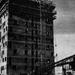 Budafoki kísérleti lakótelep, magasház építése