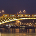 Combino a kivilágított Margit hídon