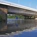 Árpád híd, hajóállomás felől
