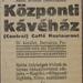 CentralKavehaz-1913Szeptember-AzEstHirdetes