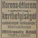 DohanyUtca20-KoronaEtterem-1913Junius-AzEstHirdetes