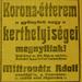 DohanyUtca20-KoronaEtterem-1913Majus-AzEstHirdetes