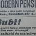 ErzsebetTer5-ModernPensio-1913Oktober-AzEstHirdetes
