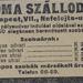 RomaSzalloda-NefelejcsUtca6-1913Julius-AzEstHirdetes