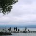 Horgászok esőben