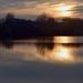 Alkony a környei tó felett