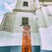 Béketér és a Református templom és az 500 éves reformációs fejfa
