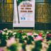 100 éves megemlékezésre hívogató tábla a község központjában