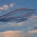 Felhők reggel fények formák