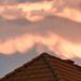 Viharos felhők fények