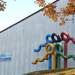 Cegléd, Sportcsarnok, Olimpia-plasztika
