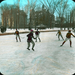 Hockey game, McGill campus, Montreal, QC, about 1910