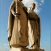 Szent István király és Gizella királyné szobra