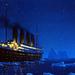 Titanic jéghegyek között fantázia kép