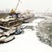 téli Duna a hídról