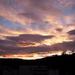 égi fények, arany-barna és rózsaszín-kék
