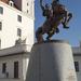 Svatopluk szobra a várban